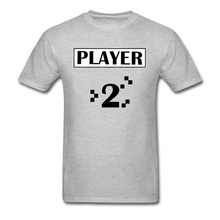 Game Over PLAYER 2 Board Funny Tshirts Gray Vintage Video Endgame New Mens T Shirt Wholesale Custom Clothes