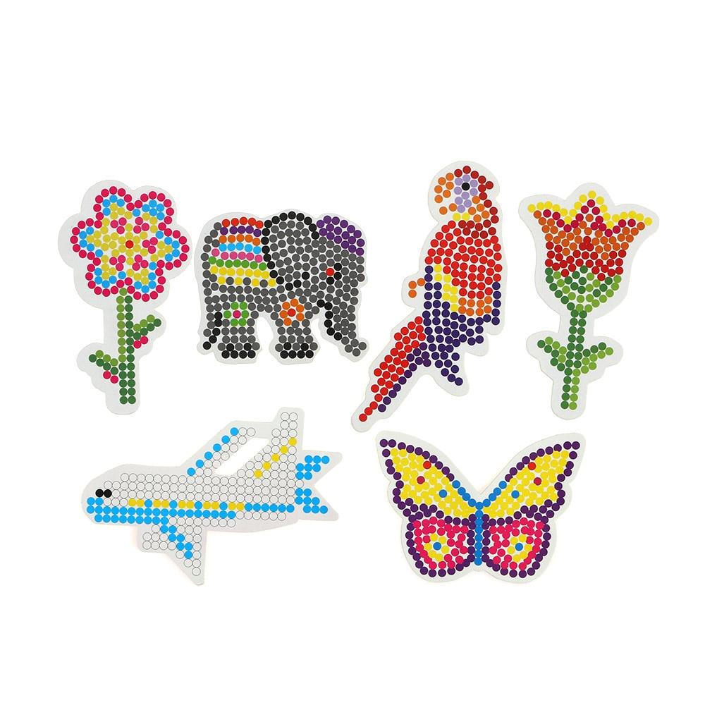 5mm EVA Hama Beads Set Toy DIY Mini Perler Beads Pegboard Tangram Jigsaw With Tools Hama Beads Iron Beads Kids Toys
