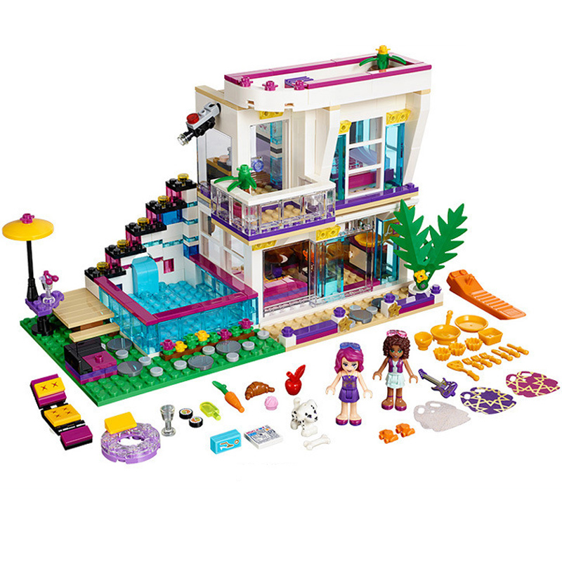 Building Block 9985 Compatible with Friends Livis House 41135 Emma Mia Figure Educational Toys For Children Girls Bricks