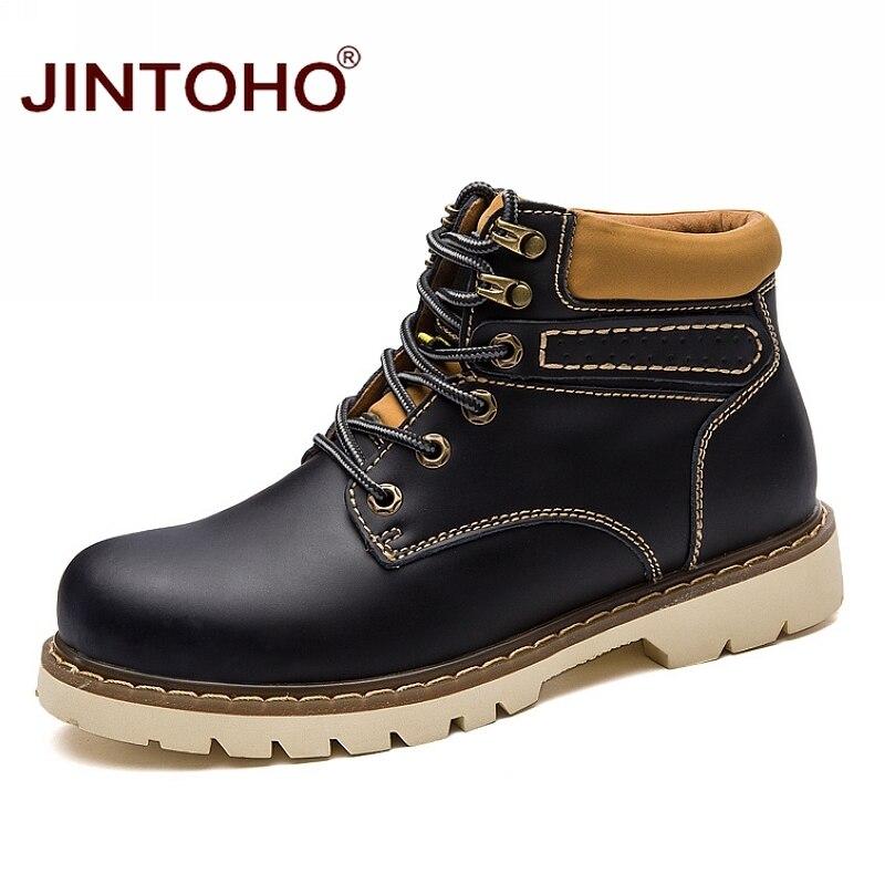 uno di Se invernali alta vera scarpe in Zong moto Jintoho qualità nuovi in qian stivali uomini lavoro sicurezza gomma maschile pelle Zong Hei qUSwnHI