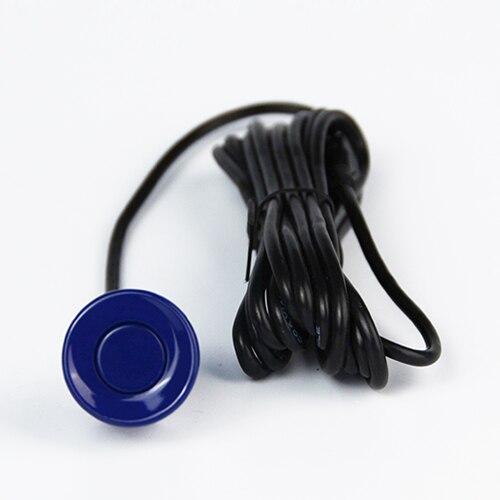 4 датчика s 22 мм английский человеческий голос ЖК-датчик парковки Комплект дисплей Автомобильный радар заднего хода монитор система 12 в 8 цветов - Название цвета: Синий