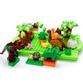 World Building Blocks Toys Jurrassic Dinosaur Park Plastic DIY 3D Large Size Dinosaur Tree Self Locking Blocks Creative Toy Kids