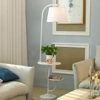 Modern Floor Lamps For Living Room Bedroom Loft Standing Light Fixtrues Fabric Lampshade Decor Home Lighting White Iron Wood E27