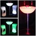 Portable light bar table/ PE RGB led cocktail bar table SK-LF20 (D60*H110cm)  Free Shipping 2pcs/Lot