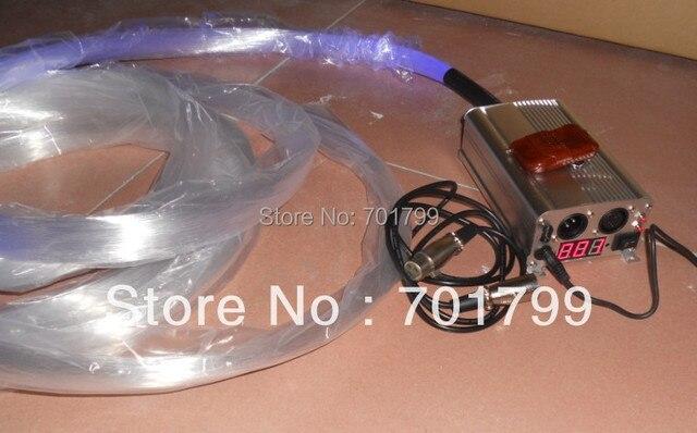 PS optical fiber kit;200fibers x 1,00mm x 4 meter long with a 9W RF DMX RGB led light engine together