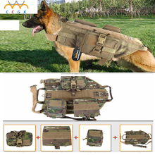 2017 Outdoor Protection Army Tactical Dog Vests Military Dog Clothes Load Bearing Harness SWAT Dog Training rescue Molle Vest