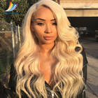 Sevengirls Brazilian Deep Wave Wig Human Hair 613 Blonde Color Pre Plucked 360 Lace Wig With Baby Hair For Women Free Shipping