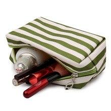 JJDXBPPDD Women's Travel Cosmetic Bag Zipper Large Capacity Classic Stripes Storage Toiletry Makeup Bag Washing Organizer Case