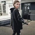 [XITAO] 2017 Европа женская мода письмо печати шить ложные две части камуфляж пуловер с длинным рукавом кофты MMJ007