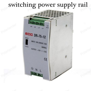 Secure quality simple operation AC/DC 12V 6.2A dual output power supply rail Lighting Transformer LED strip power supply Drive