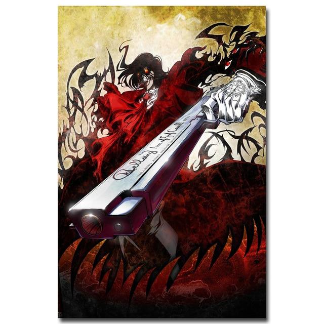 Аниме плакат гобелен шелковый Хеллсинг