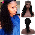 360 Lace Frontal Wig With Baby Hair 150% Density Brazilian Deep Curly Full Lace Human Hair Wigs New 360 Full Lace Front Wig Cap