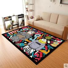 цена на American style Cartoon Animal carpet living room coffee table mat Super Soft Coral Fleece Carpet Kids Bedroom doorMat Rug