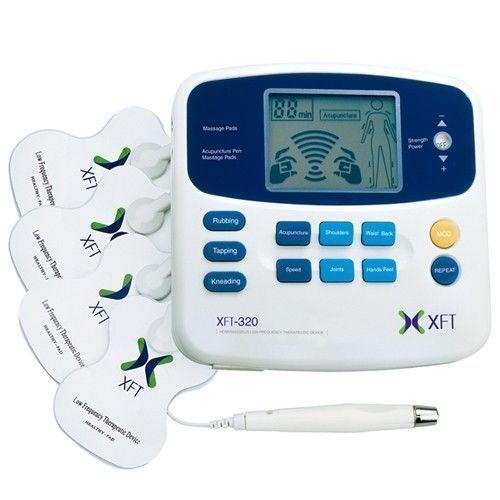 Marcas XFT-320 Dual Tens Máquina Digital Massagem Massager Eletrodo Pad Caneta Acupuntura Dispositivo de Massagem Nos Pés Alívio Da Dor Do Corpo