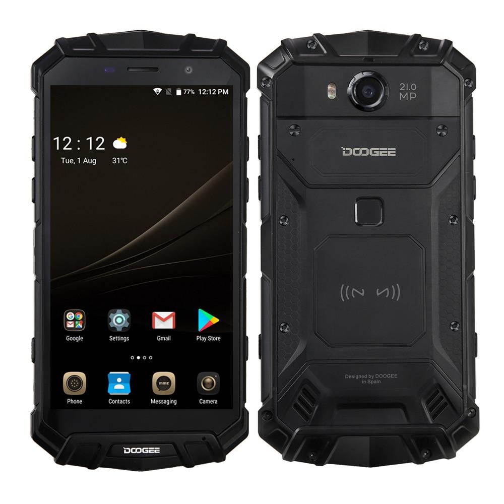 DOOGEE S60 Smartphone Helio P25 Octa Core 6 GB + 64 GB Android 7.0 12V2A 21MP IP68 étanche sans fil 5.2 pouces téléphone Mobile