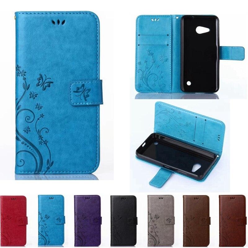 Caja del teléfono de cuero cubierta de la carpeta para nokia lumia 950 830 730 7
