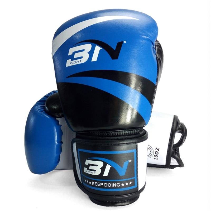 8/10/12 oz gants de boxe en cuir PU coup de pied boxe Taekwondo luvas Muay Thai karaté entraînement MMA équipement de fitness hommes femmes adolescentes