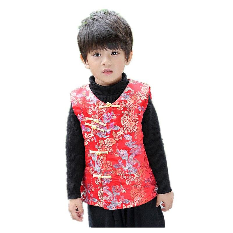 Initiative Winter Kinder Weste 2019 Chinesische Neue Jahr Baby Jungen Weste Jacke Kinder Tang Kleidung Jungen Mantel Cheongsam Outfit Ärmelloses Top Geschickte Herstellung