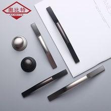 Aobt современные серебристые ручки для шкафа из цинкового сплава