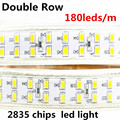 New Design Ultra Super Bright Tape IP65 180led/m Double Row LED Strip Light 2835 SMD 220V Hotel Building