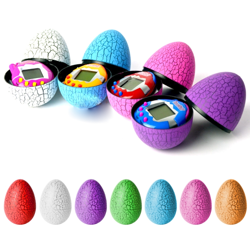 Dinosaur Flaw Eggshell Electronic Virtual Game Tumbler Egg Candy Package Box Toy