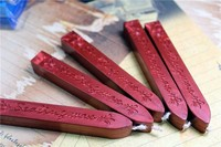 2019 New 5Pcs Wine Red Manuscript Sealing Seal Wax Sticks Wicks For Postage Letter#T2