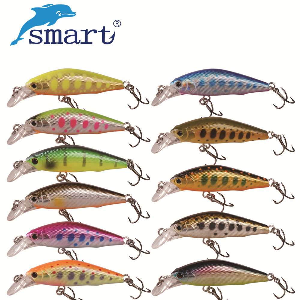 Smart 42mm/3.66g Minnow Lures Sinking VMC Hook Souple Iscas Artificiais Swimbait Hard Fishing Bait Kunstaas Fishing Tackle wldslure 1pc 54g minnow sea fishing crankbait bass hard bait tuna lures wobbler trolling lure treble hook