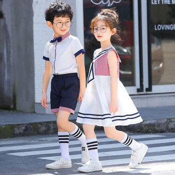 Kindergarten clothing summer dress girls Chinese style primary school uniforms college wind children school girl suit in summer 2016 kindergarten children wear new uniforms casual fashion sport suit