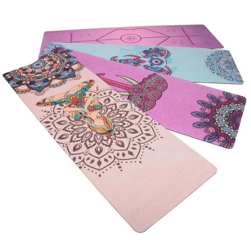 TPE Yoga Mat High Quality Rubber Pad Suede Natural Rubber Super Non-slip Yoga Mat Body Alignment System Thin Natural Rubber Mat