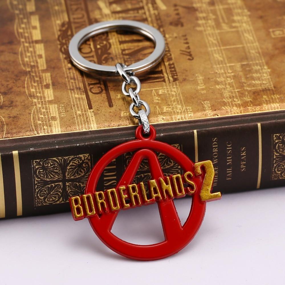 HSIC JEWELRY Online FPS Game Borderlands 2 Logo Keychain for Fans New Borderlands Design Model Key Chain Gift HC11287