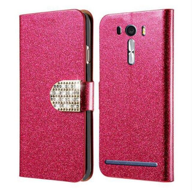 buy online c6303 20d00 US $2.67 15% OFF for Asus Zenfone 2 Laser Ze500kl Case Asus Zenfone 2 Laser  Ze550kl Case Cover lazer Luxury Flip Original PU Leather Flip Cover-in ...