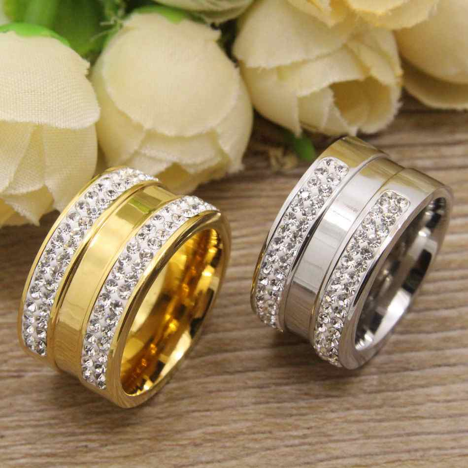 Top Quality Gold and Silver Color Hot Wholesale Newest Fashion Jewelry Rings Stainless Steel For Women RBJDHYBH