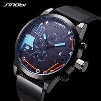 SINOBI homens Relógios Top Marca de Luxo Relógio Esportivo À Prova D' Água dos homens Moda Casual Relógio de Quartzo Relogio masculino