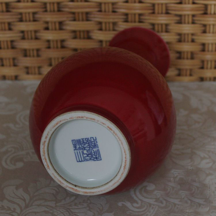 Antique Qing Porcelain Oxblood Vases For Collection In Vases From
