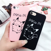 Pika Pi Phone Cases For iPhone 5s SE Case Cartoon PC Hard Cute Lovely Simple Covers For iPhone 6 6s Plus 7 8 Plus Housing SF73