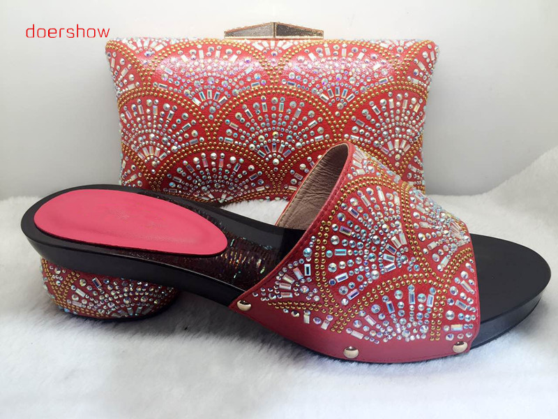 doershow Italian Shoe with Matching Bag Fashion Lattice Pattern Italy Shoe and Bag To Match African Women Shoes party !HJJ1-34 цены онлайн