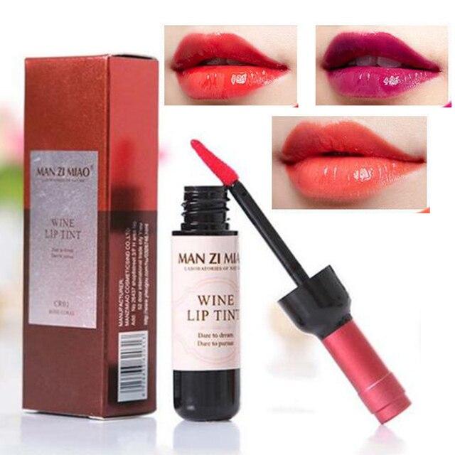 Nueva botella de vino rojo labios maquillaje hidratante brillo de labios de larga duración mate líquido lápiz labial impermeable tinte de labios cosmético