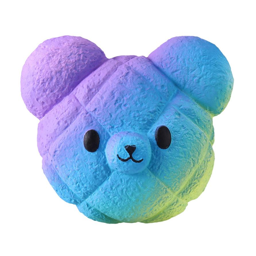 Original Kawaii Kawaii Cartoon Galaxy Bear Squishy Slow Rising Cream Scented Stress Reliever Toy   Collection Cure Gifts 7.4 #6