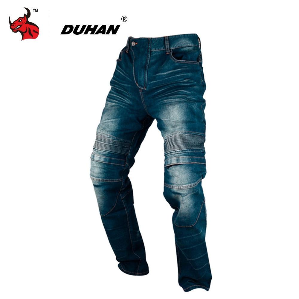 DUHAN Motorcycle Pants Men Motorcycle Jeans Casual Pants Men's Motorbike Motocross Off-Road Knee Protective Moto Jeans Trousers