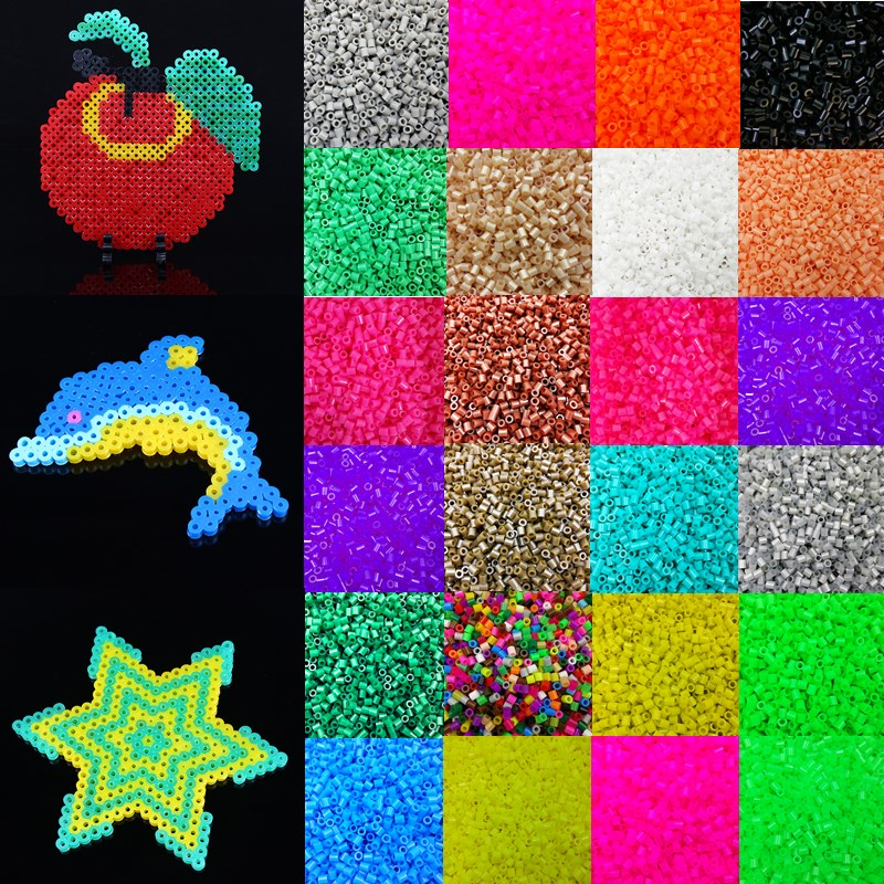 LNRRABC Fashion 1000pcs Candy Color 5mm Plastic Hama Perler Beads For Educate Kids Child Gift Handmade DIY Toys Free Shipping