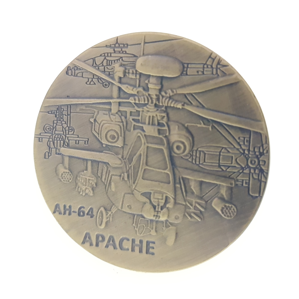 Aeroplane The World War 2 Eagle Commemorative Coin AH64 Apache helicopter currency air force American Aircraft Force