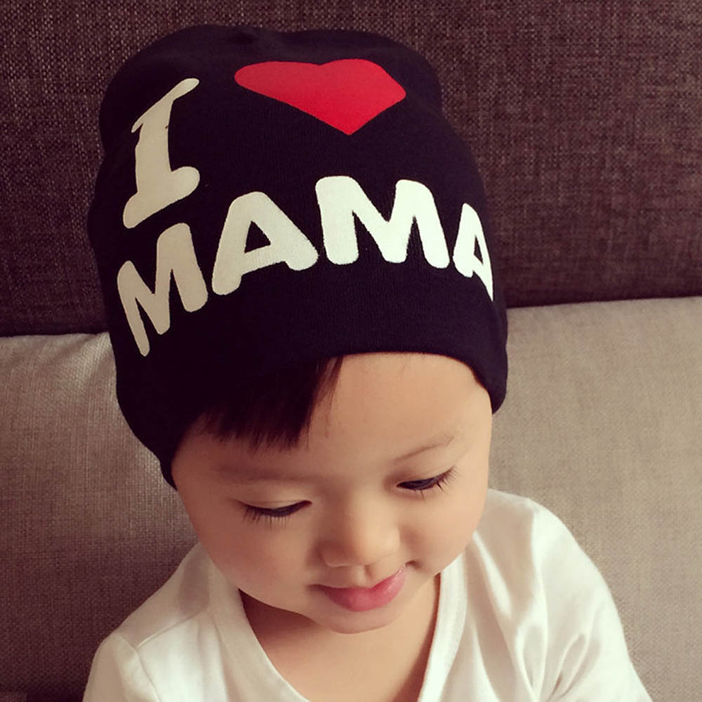 High Quality Knitted Cotton Letter Hats Beanies With Love Heart For Baby Kid Spring Autumn Warm Caps Skullies sleep professor spring love