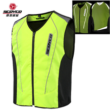 SCOYCO JK30-2 motorcycle biker reflective safety vest jacket ,moto motorbike motocross black work high visiblity black work vest