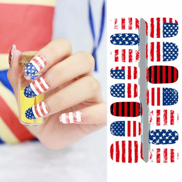 2017 New Fashion Usa Flag Fantacy Impressionism Fast Instant Nail