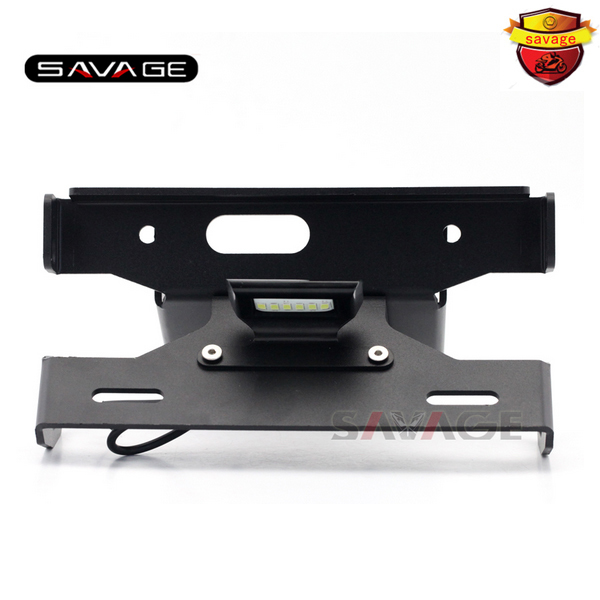 For KAWASAKI ZX6R ZX-6R NINJA 2007-2008 Motorcycle Tail Tidy Fender Eliminator Registration License Plate Holder LED Light for kawasaki z1000 z750r z750 2007 2012 motorcycle tail tidy fender eliminator registration license plate holder led light