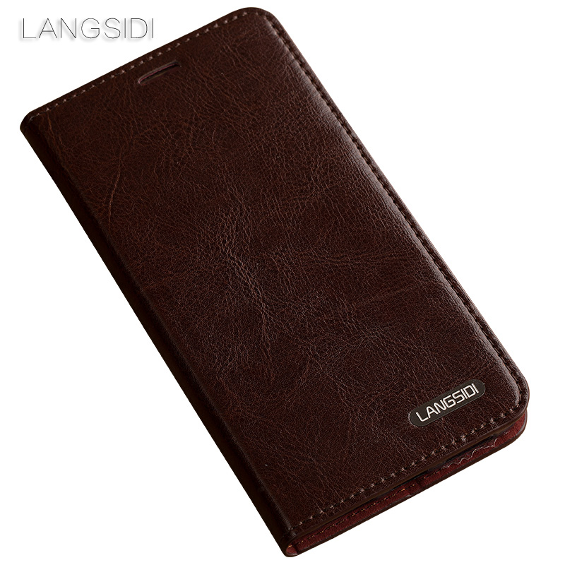 Coque pour xiaomi mi Note 2 coque de téléphone huile cire peau portefeuille flip Stand titulaire fentes pour cartes étui en cuir pour envoyer un film de verre de téléphone - 4
