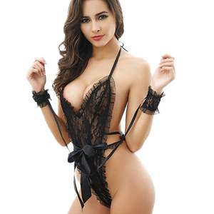Sleepwear Nightwear Handcuffs Lingerie Women Babydoll Sexy Hot Summer V-Neck for Vestido
