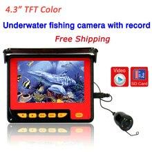20 m mini Visión Nocturna Cámara Pesca Submarina Buscador de Los Pescados Portátil Con Monitor en Color de 4.3 Pulgadas Envío Gratis