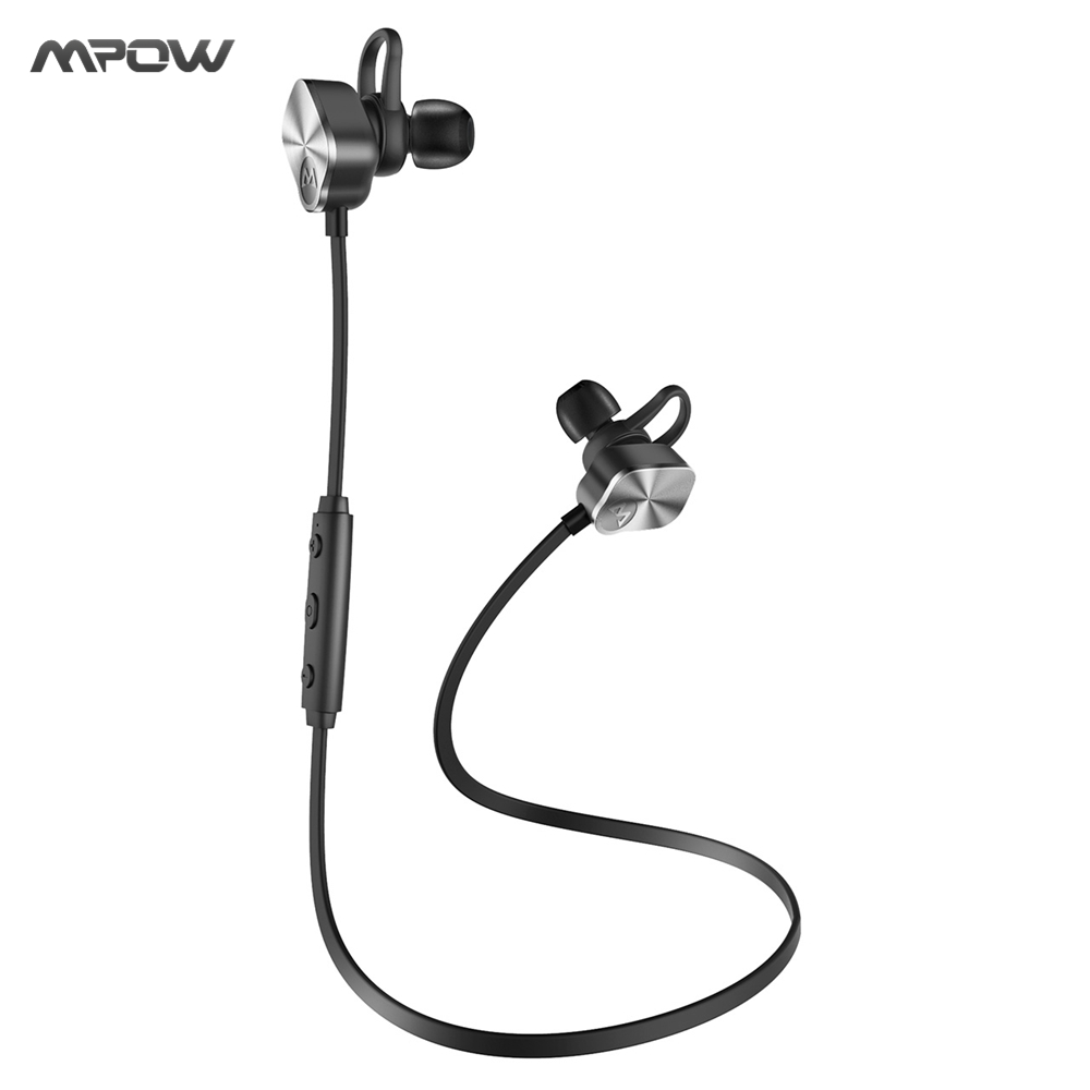 Original MPOW Wolverine Bluetooth Headphones Wireless Earphones CVC 6.0 Noise Reduction Aluminum Shell Design w/ Mic for Phones