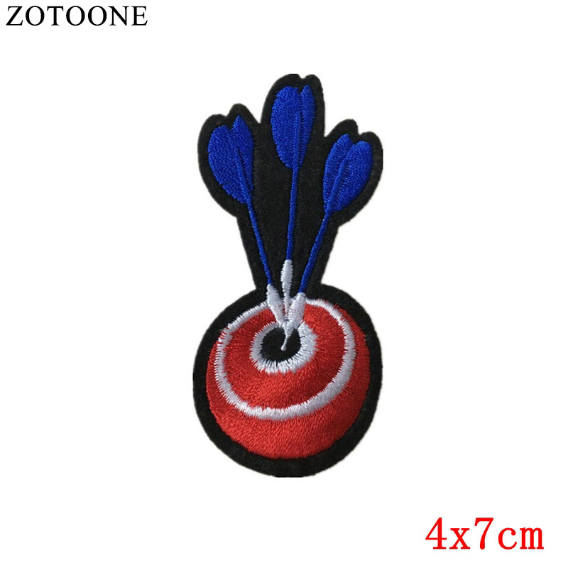 ZOTOONE Cheap Embroidered Cartoon Patches Iron On Kids Clothes Shooting Target Appliqued ...